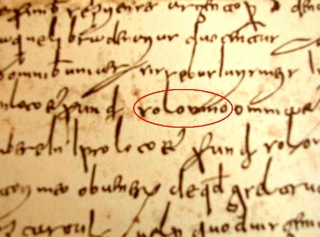 """Il nome """"Solomno"""" in una pergamena dell'anno 849"""