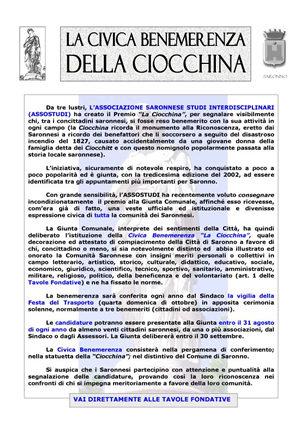 MARZO 2003 - La civica benemerenza della Ciocchina