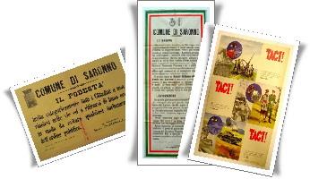 Manifesti archiviio foto